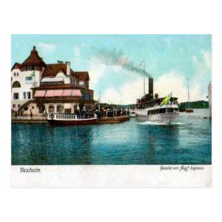 Vaxholm, Sweden, Tourist steamer Postcard