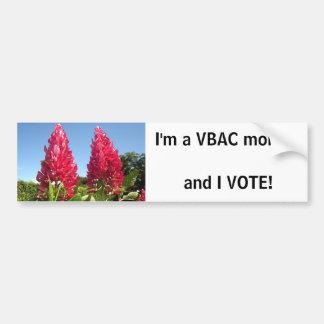 VBAC mom - I VOTE! bumpersticker Car Bumper Sticker