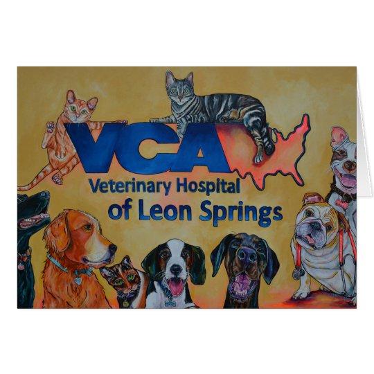 VCA Veterinary Hospital Greeting Card