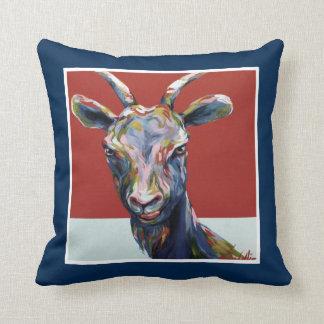 VCollierArt Original Naughty Goat Throw Pillow