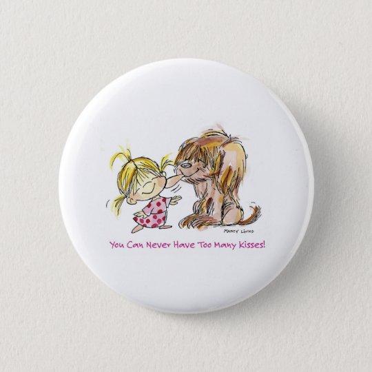 VDA-002 Puppy Love 6 Cm Round Badge