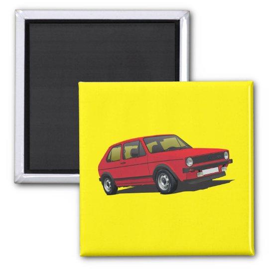 VDUB Golf GTI MK1 red magnet