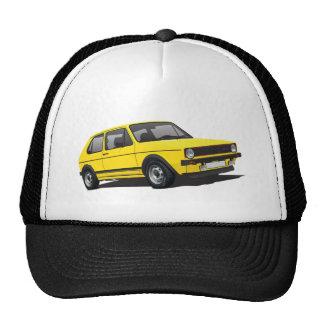 VDUB Wagen Golf GTI MK1 yellow trucker hat