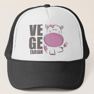 Ve Ge Tarian (Pink Cow) Trucker Hat