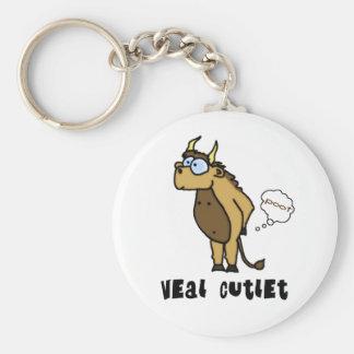 Veal Cutlet Keychain Keychain