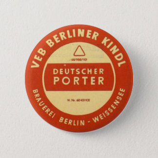 VEB Kindl Porter 6 Cm Round Badge