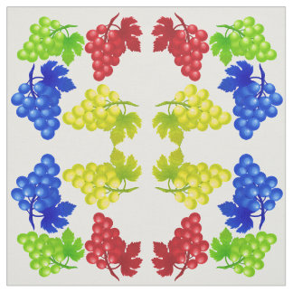 Vector Abstract Bunch of Grapes Fabric