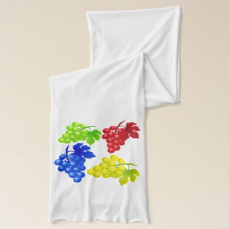 Vector Abstract Bunch of Grapes Scarf