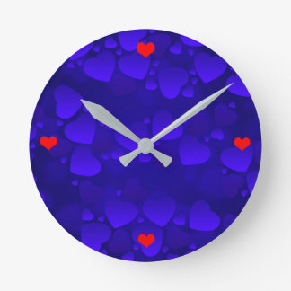 Vector Abstract  Hearts Round Clock