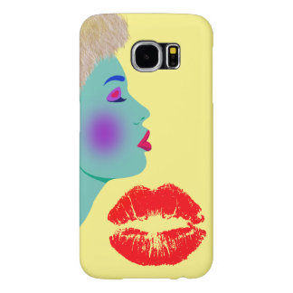 Vector abstract lady samsung galaxy s6 cases
