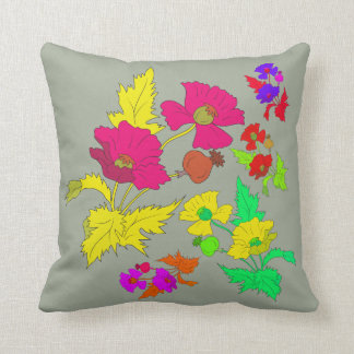 Vector - Abstract Poppies Cushion