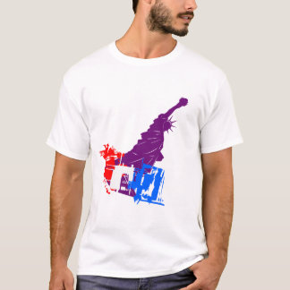 Vector Abstract  Statue of Liberty T-Shirt