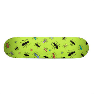 Vector Ant Collage (Grass Green Background) Skate Boards