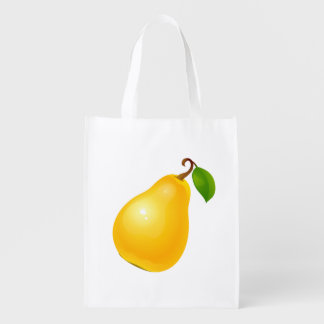 Vector Apple and Pear Reusable Grocery Bag