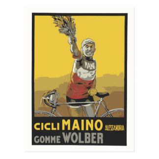Vector Art cycling Italian champion 1920 Post Card