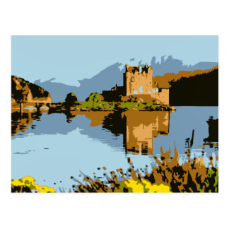Vector art Eilean Donan Castle Scotland Postcard