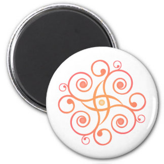 Vector Art: Gradient Spirals: 6 Cm Round Magnet