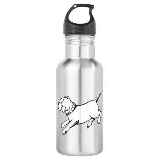 Vector Art Pit Bull Dog  -  532 Ml Water Bottle