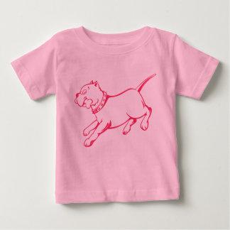 Vector Art Pit Bull Dog  -  Baby's T-shirt