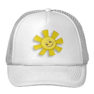 vector att happy sun trucker hat