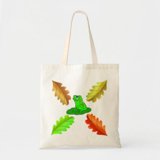 Vector - Autumn leaves with frog Tote Bag