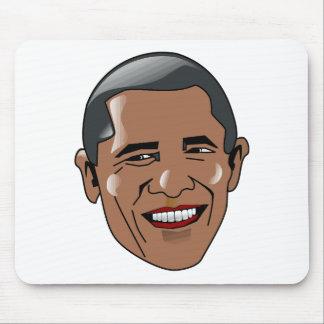 Vector Barack Obama head Mousepad