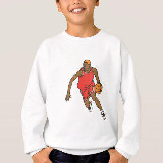 vector basketball player dribbling sweatshirt