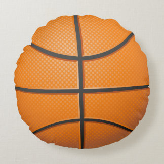 Vector Basketball Round Cushion