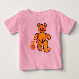 Vector Bear and Owl Baby T-Shirt