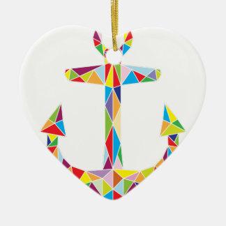 Vector Boat Anchor Christmas Ornament