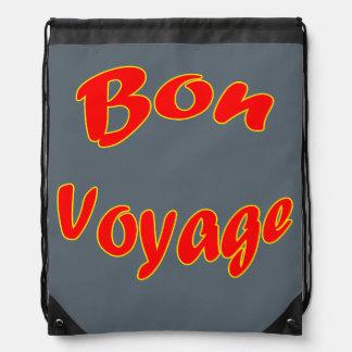 Vector Bon Voyage Drawstring Bag