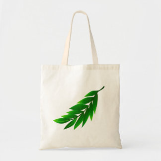 Vector  Branch with Leaves Tote Bag