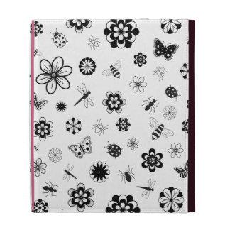 Vector Bugs & Flowers iPad Folio Cases