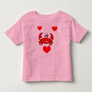 Vector - Cartoon Crab with hearts Toddler T-Shirt