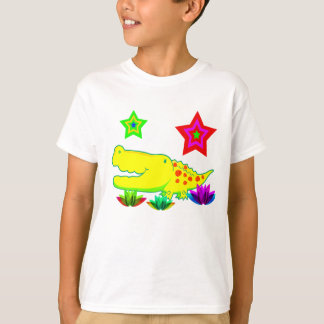 Vector  Cartoon crocodile. T-Shirt