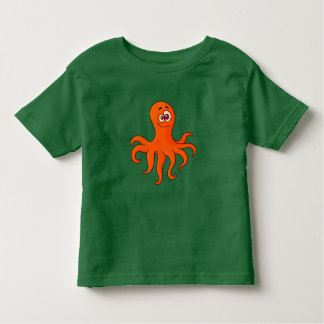 Vector Cartoon Orange  octopus Toddler T-Shirt