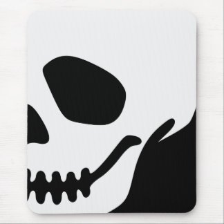 Vector Cartoon Skull Mouse Mat