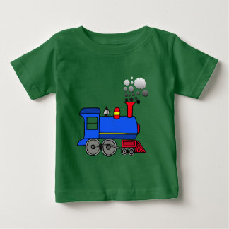 Vector Cartoon Train Baby T-Shirt