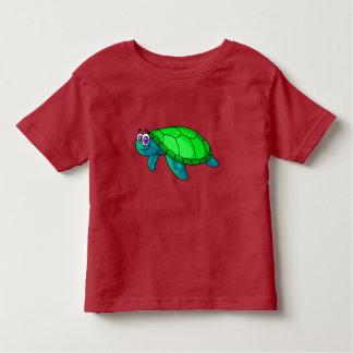 Vector Cartoon Turtle Toddler T-Shirt