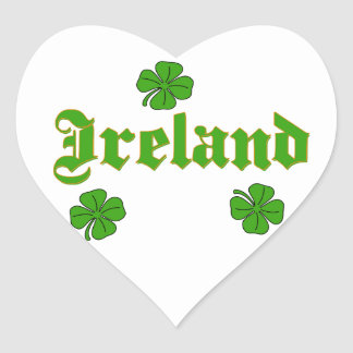 Vector - Clover  Ireland Heart Sticker