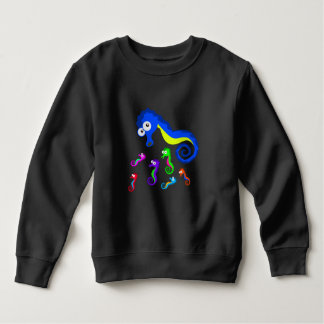 Vector Coloured  Seahorses Sweatshirt