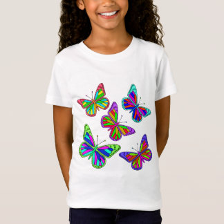 Vector Colourful  Butterflies T-Shirt