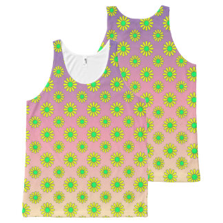 Vector computer generated flower All-Over print tank top