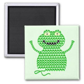 Vector Crochet Frog (Rip it, Frog it! -Green Back) Fridge Magnets