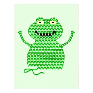 Vector Crochet Frog (Rip it, Frog it! -Green Back) Postcard