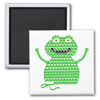 Vector Crochet Frog (Rip it, Frog it!) Fridge Magnets