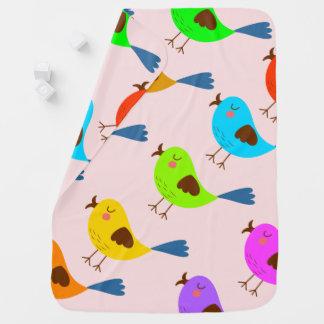 Vector cute bird baby blanket