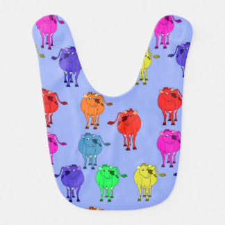Vector Cute cartoon cow Bib