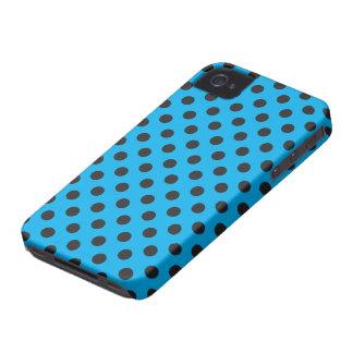 Vector Cyan & Black Polka Dot iPhone Case