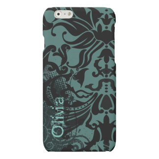 Vector Damask Retro Dot-change teal to any color iPhone 6 Plus Case